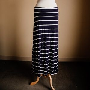 Windsor Skirts - Windsor Navy Striped Skirt